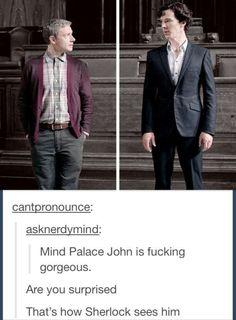 I love John in a cardigan...