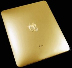 This 22c Gold iPad with 53 Diamonds in Apple Logo Costs... why would you do this when it will be outdated in a few months..?