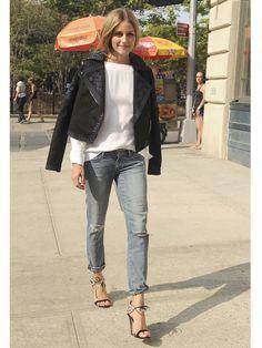 【ELLE】Olivia Palermo ;jacket fall