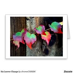 Six Leaves Change Greeting Card