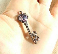 Key to my heart pendant by VeraNasfa, $36.00