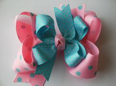 Big Boutique Doubled Layered Hair Bow by SOUTHERNBABYBOUTIQUE, $5.99