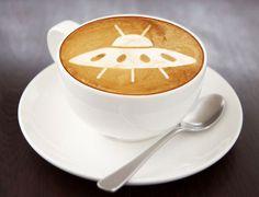 UFO Coffee Art Design // Creative 3D Coffee Latte Art Pictures, Images & Designs