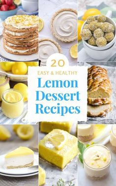 From Lemon Energy Balls to Lemon Cake and Lemon Tarts, this is 20 Easy Healthy Lemon Dessert Recipes You Need To Try. These delicious lemon desserts will bring the lemony sunshine onto your plates. Perfect for Easter and celebrating Spring. All recipes are refined sugar-free and just yummy! #easter #dessert #dessertrecipes #spring #healthyrecipes #healthylifestyle #sugarfree #weightlossrecipes #lemon | NATALIESHEALTH.com