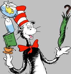 Dr. Seuss Characters Clip Art | more Dr. Seuss freebies ( a ppt of the guided reading book Dr. Seuss ...
