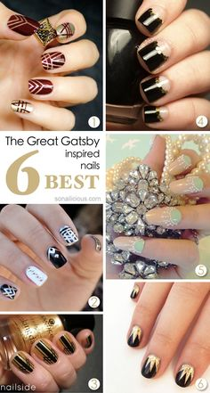 The Great Gatsby inspired nails - TOP 6.  Click for more details.