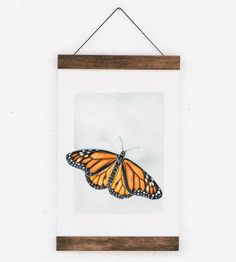Monarch Butterfly Wall Hanging by Anna Tovar
