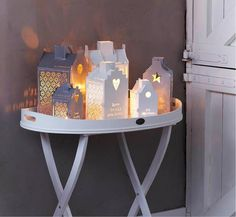 Riverdale Joy of Living > Collectie > Christmas huisje It's Christmas Time Noel Christmas, Christmas And New Year, Winter Christmas, Christmas Crafts, Christmas Decorations, Xmas, Christmas Lights, Joy Of Living, Candle Lanterns
