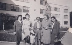 Mi Lita, tia Ema, tio Hugo, tia Elsa, Tia Toya y mi mamá chiquitita