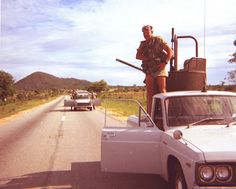 During the civil war in our country we had to travel in convoy when we drove from place to place - especially long trips - as there was always a chance of an ambush attack on individual vehicles. Bad Memories, Childhood Memories, Palette Furniture, Army Police, Jimmy Carter, Ways To Travel, Places Of Interest, Zimbabwe, Military History