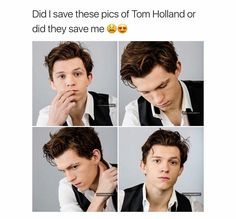 I can assure you that they saved me<<< I can't believe how much he looks like the Peter Parker I grew up watching as a child! Marvel must have been breeding him for this. Dc Memes, Marvel Memes, Tom Holland Peter Parker, Tommy Boy, Men's Toms, Film Serie, Leiden, The Villain, To My Future Husband