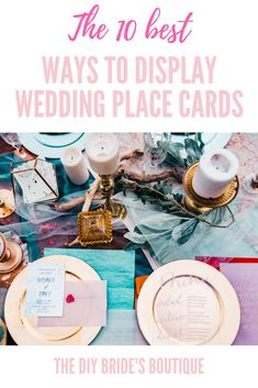 The 10 Best Ways to Display Wedding Place Cards — The DIY Bride's Boutique Diy Wedding Reception, Wedding Decorations On A Budget, Cheap Wedding Venues, Wedding Ideas, Wedding Seating, Reception Ideas, Wedding Inspiration, Wedding Place Settings, Wedding Place Cards