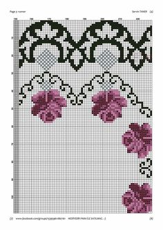 Hgtv, Diy And Crafts, Cross Stitch, Crochet, Pink Tablecloth, Cross Stitch Embroidery, Towels, Roses, Flowers
