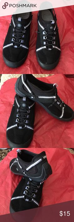 Women sneakers Super cute and comfortable shoes. Size 10M. One shoe lace it torn but easy to fix. JBU brand, good conditions JBU Shoes Athletic Shoes