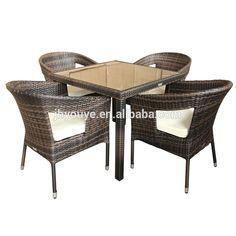 Juego de comedor de ratán al aire libre muebles
