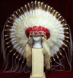 Native American 1875 Replica War Bonnet Headdress | eBay