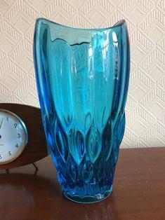 Vintage Rudolfova Vase 12992 Vaclav Hanus Sklo Union Czech Mid | Etsy See Picture, Czech Glass, Mid Century, Vase, Pictures, Vintage, Color, Home Decor, Photos