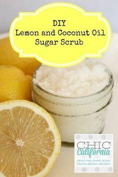 DIY Lemon and Coconut Oil Sugar Scrub