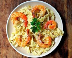 Food Swoon | Pasta With Lemon Cream And Shrimp