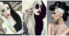 Ασπρόμαυρα μαλλιά!Ένα ιδιαίτερο στυλ των δύο άκρων στο μαλλί σας! ΕΙΚΟΝΕΣ