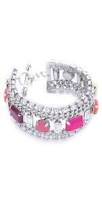 Juicy Couture  Multi Layer Gem Bracelet