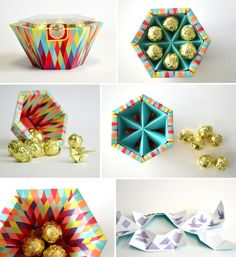 """It's been too long since we've featured some polyhedral structural packaging. Christina Sicoli's hexagonal """"Hatch"""" structure made me curious if I could find any other interesting examples of hexago… Cool Packaging, Food Packaging Design, Paper Packaging, Bottle Packaging, Packaging Design Inspiration, Brand Packaging, Packaging Ideas, Product Packaging, Chocolate Box Packaging"""