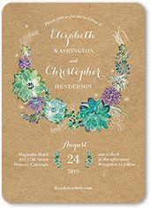 Splendid Succulent Wedding Invitation