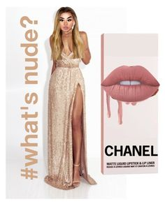 """""""#what's nude????"""" by lazykayla ❤ liked on Polyvore featuring Lime Crime"""