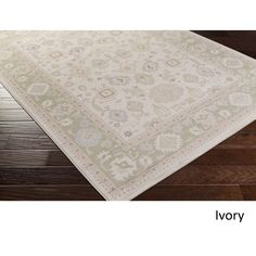 Meticulously Woven Rug (3'9 x 5'2) (Ivory), Green, Size 3' x 5' (Plastic, Border)