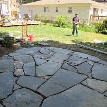 Backyard - Patios, Paths and Pots