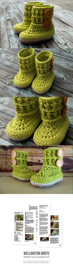 Wellington Boots Crochet Pattern for purchase