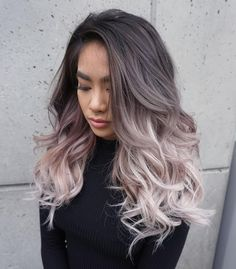 Black+To+Ash+Blonde+Ombre+Hair