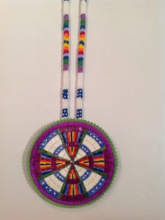 Made by Debra Soldier-Tacan. Quilled medallion w. matching beaded rope that I recently made.