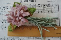Vintage Cloth Ombre Lilac Mauve Millinery by VintageFrenchRibbons
