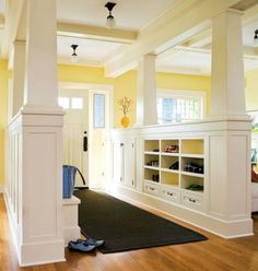 great roundup of DIY built-ins including bookshelves around fireplace and window seats. Just what I want!