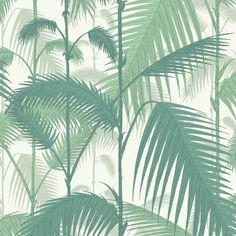 Papier peint Palm Jungle de Cole & Son Vert sur fond Blanc