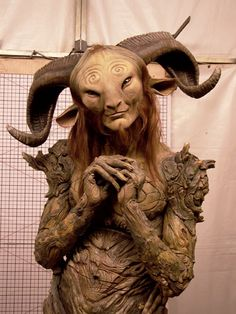 """super-nature: """"tin-pan-ali: """" Real fast I'm gonna turn this into a 'beautifully bizarre things Doug Jones has dressed up as courtesy of Guillermo Del Toro and others' post. Pan in Pan's Labyrinth The. Arte Sketchbook, Satyr, Arte Horror, Magical Creatures, Creature Design, Illustrations, Mythology, Fantasy Art, Creepy"""