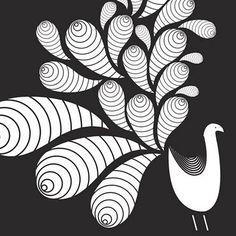 bird flourish...bleach pen?