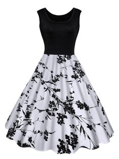 Vintage Dresses Vintage Floral Print Midi Dress - BLACK L - Fashion Clothing Site with greatest number of Latest casual style Dresses as well as other categories such as men, kids, swimwear at a affordable price. Vintage Summer Dresses, Vintage Outfits, Vintage Fashion, Dress Vintage, Pretty Outfits, Pretty Dresses, Beautiful Dresses, Floral Midi Dress, Floral Dresses