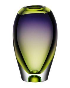 Kosta Boda Vision Purple and Green 10 Vase Pots, Glass Art Design, Murano Glass Vase, Pottery Painting Designs, Vase Crafts, Kosta Boda, Blown Glass Art, Turquoise Glass, Vases Decor