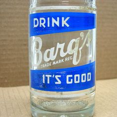 VTG 1964 ACL Barqs/barq's soda glass root beer Glass BOTTLE 10 oz embossed clear