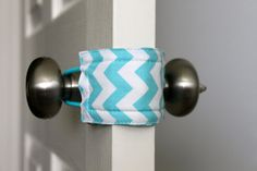 Latchy Catchy in Teal Chevron Dot -Reversible (Patented)