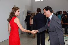 Queen Letizia attends the Annual Meeting of Directors of Cervantes Instite