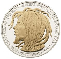 60th Anniversary, Birth of Bob Marley Bank of Jamaica | Souvenir Coins
