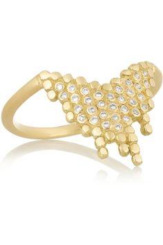 Maria Black Fine Jewelry Cascade 18-karat gold diamond ring NET-A-PORTER.COM