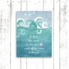 Count All The Waves in The Sea  Ocean by MooseberryPrintables, $5.00