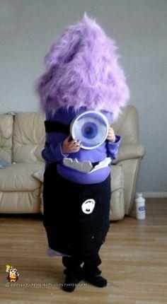 Coolest Homemade Evil Purple Minion Costume