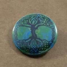 Unique India Tree Of LIfe Pinback Button Indian by BohoButtonShop  Unique India Tree Of LIfe Pinback Button Indian Badge Green Magnet Graduation Gift Vacation Exotic Art Bohemian Fashion Hippie Backpack