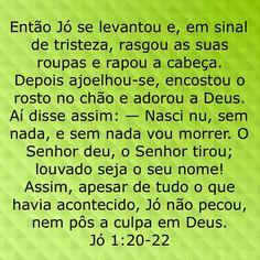 Jó 1:20-22