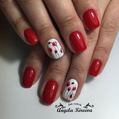 41 super Ideas for nails design summer gel french manicures spring French Manicure Gel, French Manicures, French Gel, Flower Nail Designs, Red Nail Designs, Red Nails, Hair And Nails, Nagel Gel, Nail Decorations
